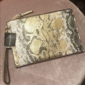 Faux snake Gold and Black Clutch!